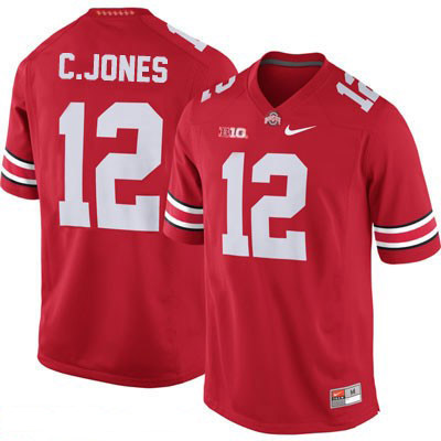 OSU Cardale Jones Mens Red Ohio State Buckeyes College Football NO. 12 Nike Jersey - Cardale Jones Jersey