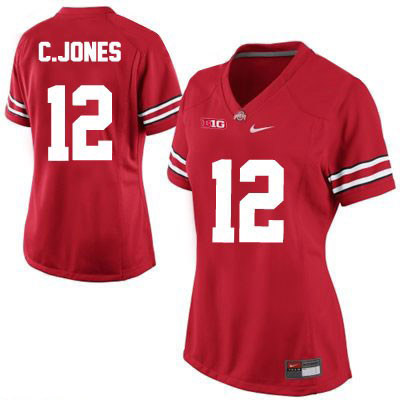 Cardale Jones Womens Red OSU Ohio State Buckeyes College Football NO. 12 Nike Jersey - Cardale Jones Jersey