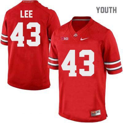 Darron Lee Youth Red Ohio State Buckeyes Nike College Football OSU NO. 43 Jersey - Darron Lee Jersey