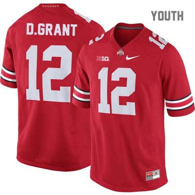 Doran Grant Youth Red Ohio State Buckeyes Nike OSU College Football NO. 12 Jersey - Doran Grant Jersey