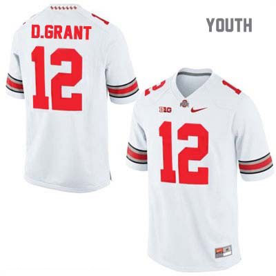 Doran Grant Youth Nike White OSU Ohio State Buckeyes College Football NO. 12 Jersey - Doran Grant Jersey