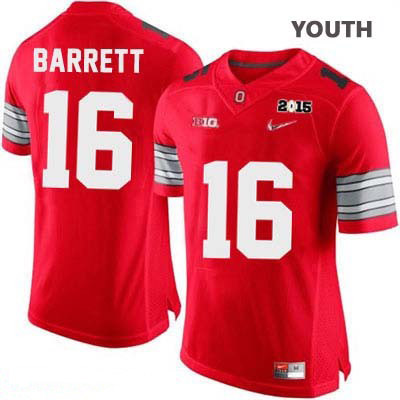 J.T. Barrett Youth Red Nike Ohio State Buckeyes Diamond Quest 2015 Patch College Football OSU NO. 16 Jersey - J.T. Barrett Jersey