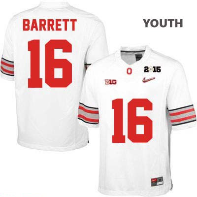 OSU J.T. Barrett Youth Diamond Quest 2015 Patch White Nike Ohio State Buckeyes College Football NO. 16 Jersey - J.T. Barrett Jersey
