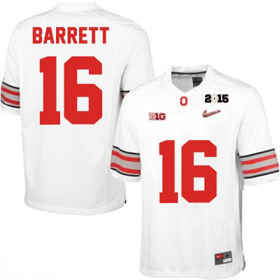 Nike J.T. Barrett OSU Diamond Quest 2015 Patch Mens White Ohio State Buckeyes College Football NO. 16 Jersey - J.T. Barrett Jersey