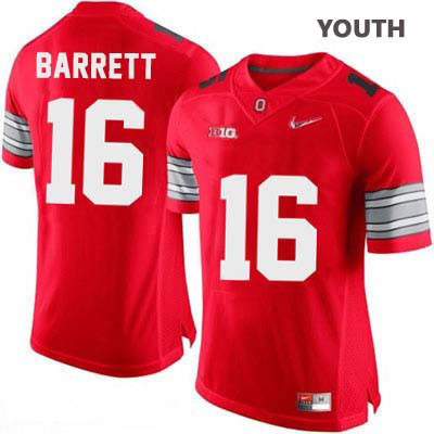 J.T. Barrett Youth Red Diamond Quest Playoff Ohio State Buckeyes OSU College Football Nike NO. 16 Jersey - J.T. Barrett Jersey