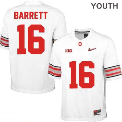 J.T. Barrett Nike Youth OSU White Ohio State Buckeyes College Football NO. 16 Diamond Quest Playoff Jersey - J.T. Barrett Jersey