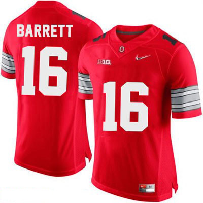 Diamond Quest Playoff J.T. Barrett Mens Red OSU Ohio State Buckeyes College Football Nike NO. 16 Jersey - J.T. Barrett Jersey