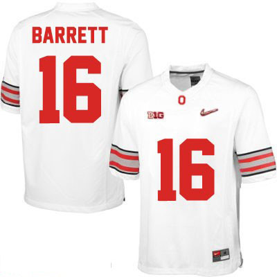 J.T. Barrett Nike Mens White OSU Ohio State Buckeyes Diamond Quest Playoff College Football NO. 16 Jersey - J.T. Barrett Jersey