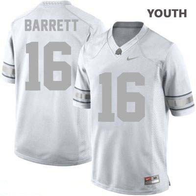 J.T. Barrett Nike Youth Platinum OSU Ohio State Buckeyes College Football NO. 16 Jersey - J.T. Barrett Jersey