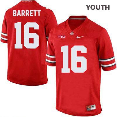 J.T. Barrett Youth OSU Red Ohio State Buckeyes Nike College Football NO. 16 Jersey - J.T. Barrett Jersey