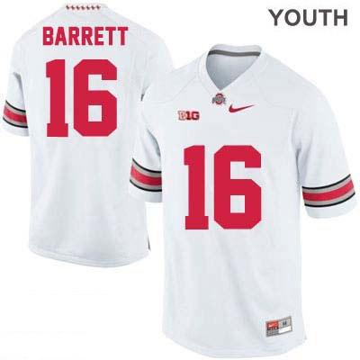 J.T. Barrett Youth White OSU Ohio State Buckeyes College Football Nike NO. 16 Jersey - J.T. Barrett Jersey