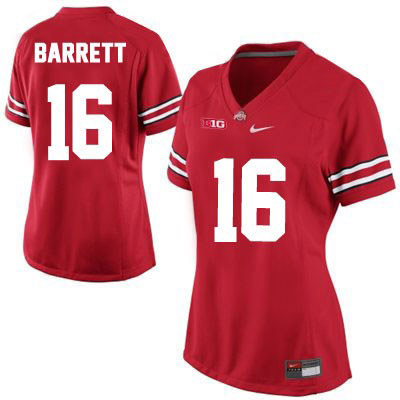 OSU J.T. Barrett Womens Red Nike Ohio State Buckeyes College Football NO. 16 Jersey - J.T. Barrett Jersey