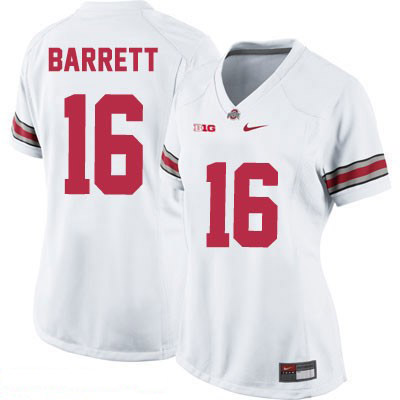J.T. Barrett Nike Womens OSU White Ohio State Buckeyes College Football NO. 16 Jersey - J.T. Barrett Jersey