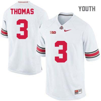 Michael Thomas Youth White Nike Ohio State Buckeyes OSU College Football NO. 3 Jersey - Michael Thomas Jersey