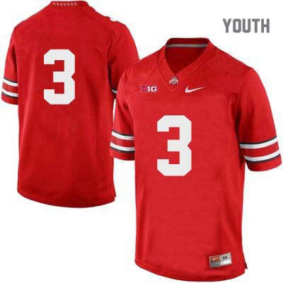 OSU Youth Nike Red Ohio State Buckeyes College Football NO. 3 Jersey