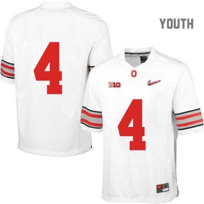 Diamond Quest Youth Nike White Ohio State Buckeyes College Football OSU NO. 4 Jersey - Ohio State Buckeyes NO. Jersey