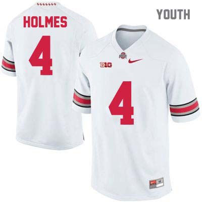 Santonio Holmes Youth OSU White Ohio State Buckeyes College Football Nike NO. 4 Jersey