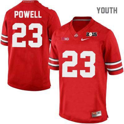 OSU Tyvis Powell Youth 2015 Patch Red Ohio State Buckeyes College Football Nike NO. 23 Jersey - Tyvis Powell Jersey