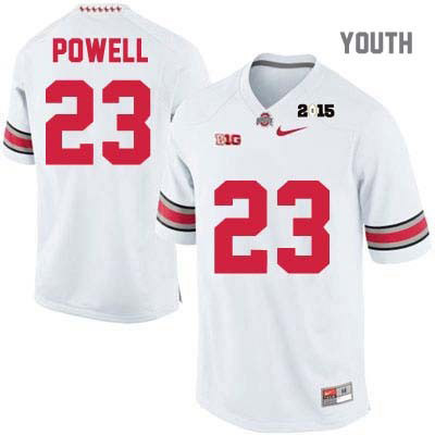 Tyvis Powell Youth OSU White Nike Ohio State Buckeyes 2015 Patch College Football NO. 23 Jersey - Tyvis Powell Jersey