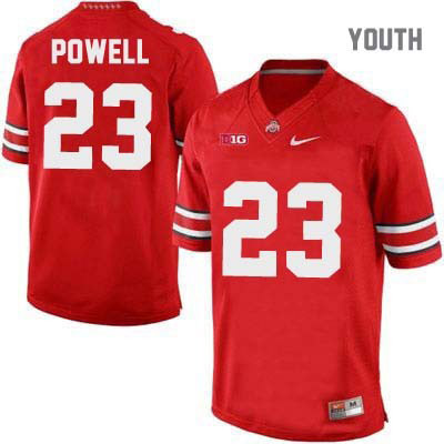 Tyvis Powell Youth OSU Red Ohio State Buckeyes College Football NO. 23 Nike Jersey - Tyvis Powell Jersey