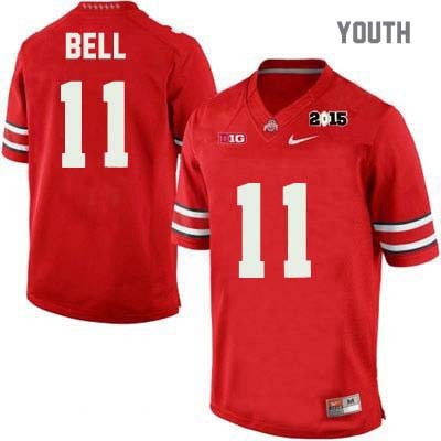 Vonn Bell 2015 Patch Youth Red Ohio State Buckeyes OSU College Football NO. 11 Nike Jersey - Vonn Bell Jersey