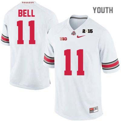 Nike Vonn Bell Youth White Ohio State Buckeyes 2015 Patch College Football OSU NO. 11 Jersey - Vonn Bell Jersey