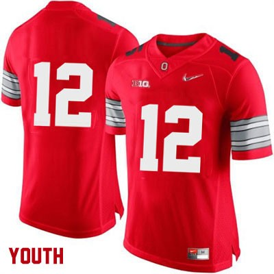 Diamond Quest Nike Youth Red Ohio State Buckeyes College Football OSU NO. 12 Jersey - Ohio State Buckeyes NO. Jersey