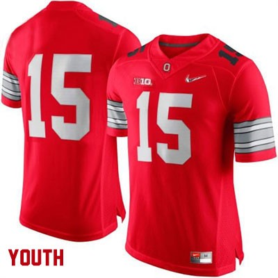 Diamond Quest Youth OSU Red Ohio State Buckeyes College Football Nike NO. 15 Jersey - Ohio State Buckeyes NO. Jersey