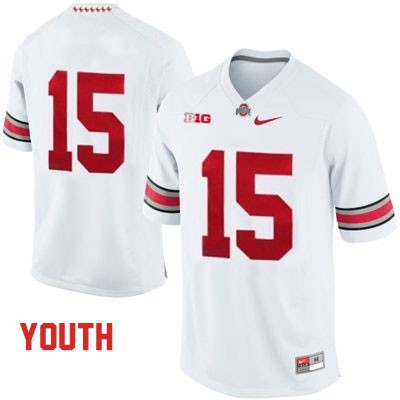 OSU Youth White Ohio State Buckeyes College Football NO. 15 Nike Jersey