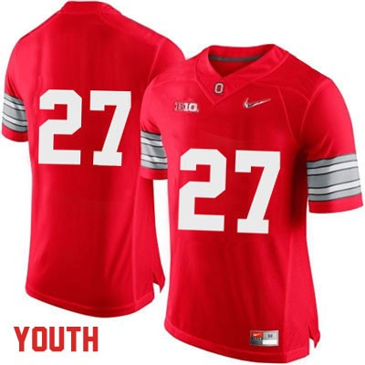 Diamond Quest Youth OSU Red Nike Ohio State Buckeyes College Football NO. 27 Jersey - Ohio State Buckeyes NO. Jersey