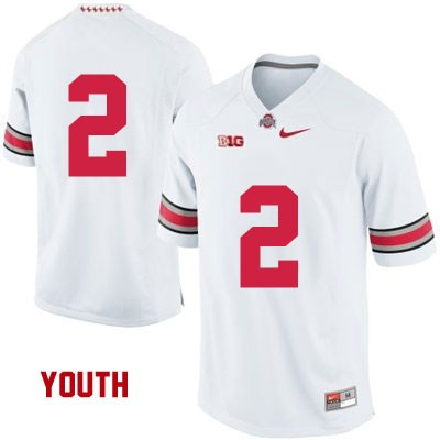 OSU Youth White Ohio State Buckeyes Nike College Football NO. 2 Jersey