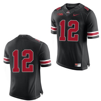 Mens Black Nike Ohio State Buckeyes College Football OSU NO. 12 Jersey - Ohio State Buckeyes NO. Jersey