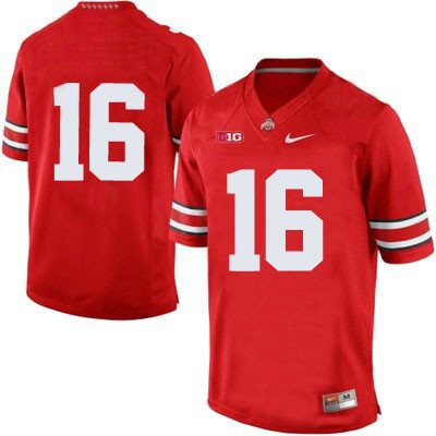 Mens Red Nike Ohio State Buckeyes College Football OSU NO. 16 Jersey - Ohio State Buckeyes NO. Jersey