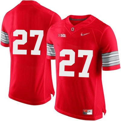 Diamond Quest Mens Red Nike Ohio State Buckeyes OSU College Football NO. 27 Jersey - Ohio State Buckeyes NO. Jersey