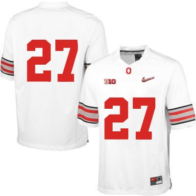 Mens Diamond Quest White OSU Ohio State Buckeyes Nike College Football NO. 27 Jersey - Ohio State Buckeyes NO. Jersey