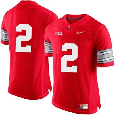 Mens Red Nike Ohio State Buckeyes Diamond Quest College Football NO. 2 OSU Jersey - Ohio State Buckeyes NO. Jersey