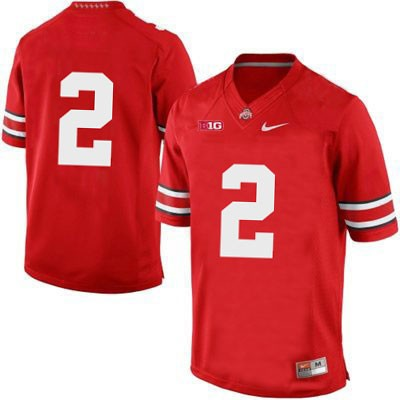 Mens Red Nike Ohio State Buckeyes College Football NO. 2 OSU Jersey - Ohio State Buckeyes NO. Jersey