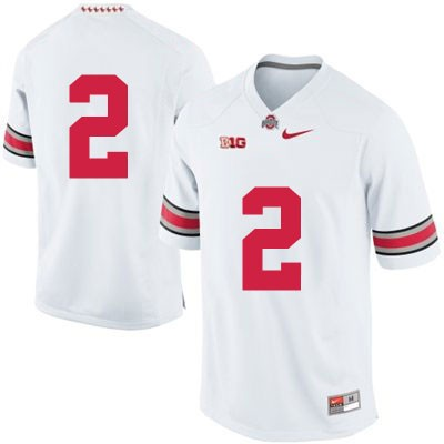Mens OSU White Ohio State Buckeyes Nike College Football NO. 2 Jersey - Ohio State Buckeyes NO. Jersey