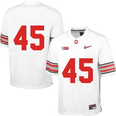 Diamond Quest Mens OSU White Nike Ohio State Buckeyes College Football NO. 45 Jersey - Ohio State Buckeyes NO. Jersey