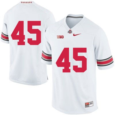 Mens Nike White Ohio State Buckeyes OSU College Football NO. 45 Jersey - Ohio State Buckeyes NO. Jersey