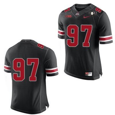 2015 Patch Mens Nike Black Ohio State Buckeyes College Football OSU NO. 97 Jersey - Ohio State Buckeyes NO. Jersey