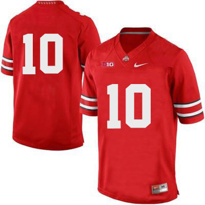 Mens OSU Red Nike Ohio State Buckeyes College Football NO. 10 Jersey - Ohio State Buckeyes NO. Jersey