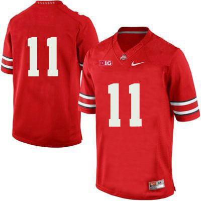 Nike OSU Mens Red Ohio State Buckeyes College Football NO. 11 Jersey