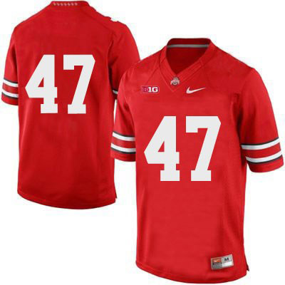 Mens Nike Red Ohio State Buckeyes OSU College Football NO. 47 Jersey - Ohio State Buckeyes NO. Jersey
