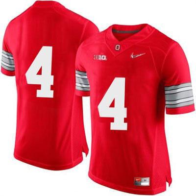 Mens Red Diamond Quest OSU Ohio State Buckeyes College Football Nike NO. 4 Jersey