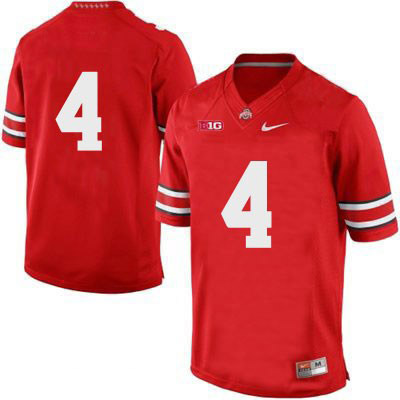 Mens Red Ohio State Buckeyes College Football Nike NO. 4 OSU Jersey - Ohio State Buckeyes NO. Jersey