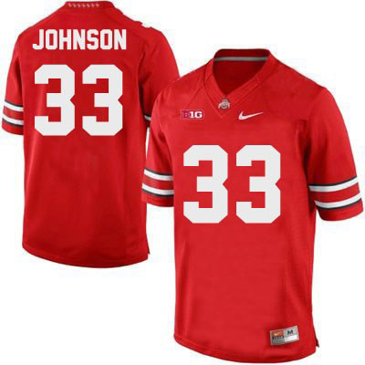 OSU Pete Johnson Mens Nike Red Ohio State Buckeyes College Football NO. 33 Jersey - Pete Johnson Jersey