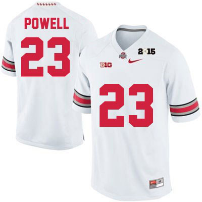 Tyvis Powell Mens White 2015 Patch Ohio State Buckeyes Nike College Football OSU NO. 23 Jersey - Tyvis Powell Jersey