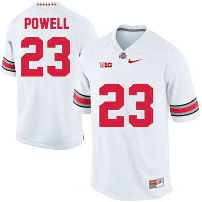 Tyvis Powell Mens Nike White Ohio State Buckeyes College Football OSU NO. 23 Jersey - Tyvis Powell Jersey